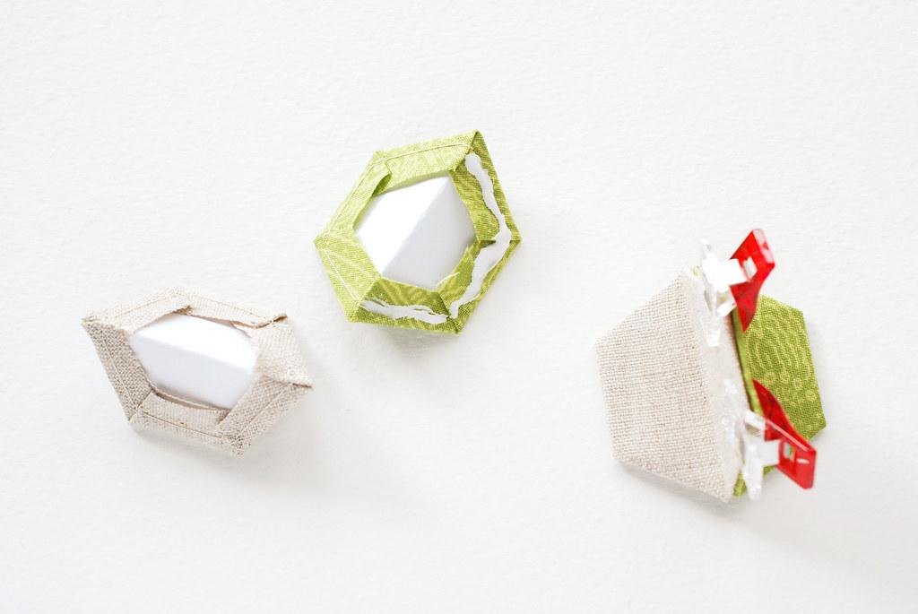 Easy Hexagon Christmas Ornament Assembly
