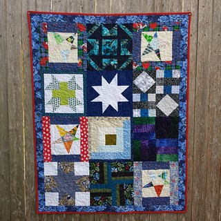 Orphan blocks + Stars for Linus. Finish number 1 for donation at Saturday's meeting of #TheLinusConnection. #charityquilt #nonprofit #donation