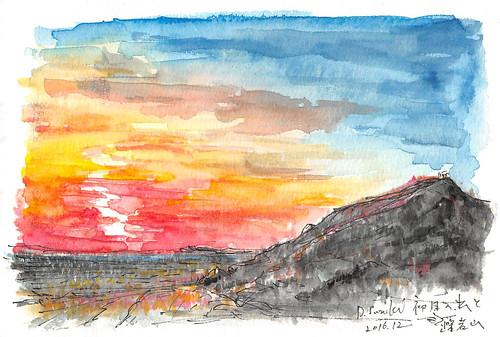 藻岩山と初日の出