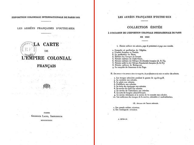 LES ARMEES FRANÇAISES D'OUTRE-MER - La carte de l'empire colonial français, 1931 (2)