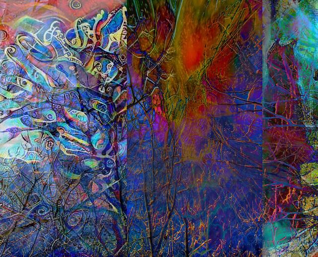 --blue branch triptych--