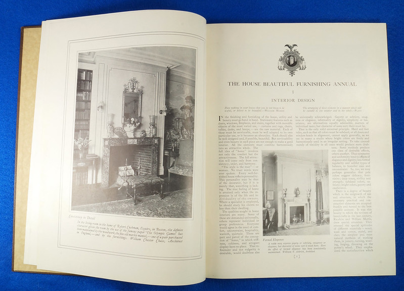 RD1041 1926 The House Beautiful Furnishings Annual Atlantic Monthly Company Interior Design DSC08674