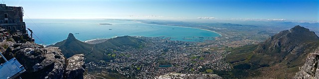 Cape Town panorama from top of the Table Mountain