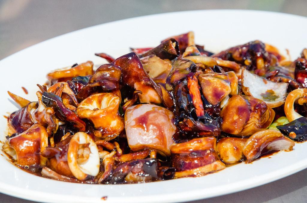 Kung Pao Cuttlefish at Tsunami Village Cafe