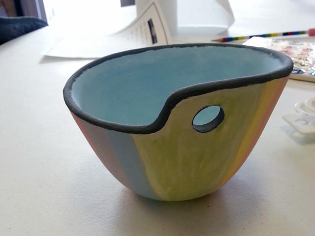 Finished yarn bowl!