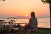 День 6. Закат на Женевском озере - а эти ажурные стулья... ммм....