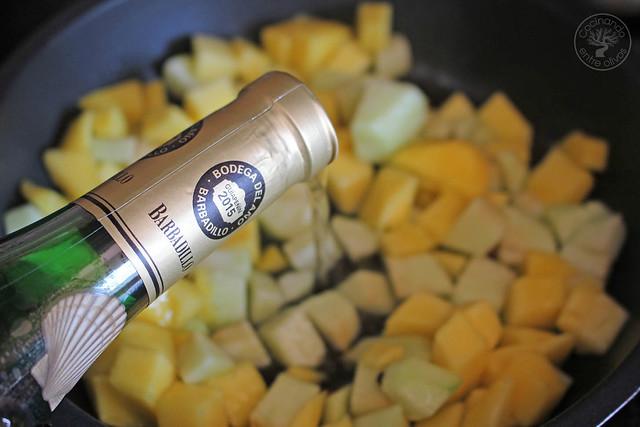 Atún con manzana y mango al aroma de Barbadillo www.cocinandoentreolivos.com (5)