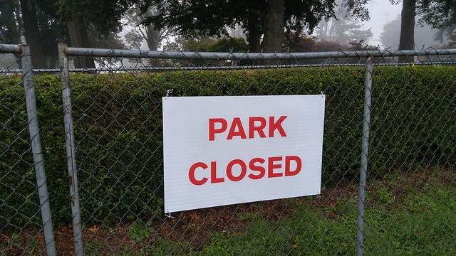Legion Memorial Park, closed for soil remediation