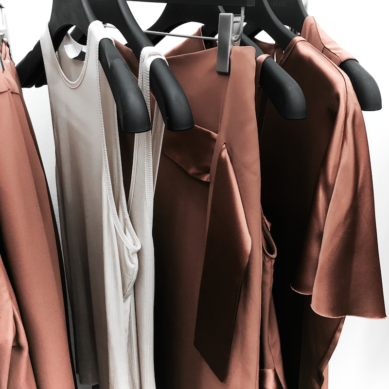 PFW Dion Lee tan silk rack Paris MODERN LEGACY