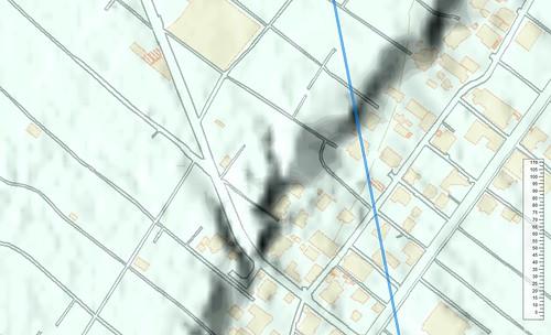 鎌倉家裏の帯状窪地