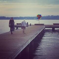 #lake #kirkland #balloons #pier #park #water #idk
