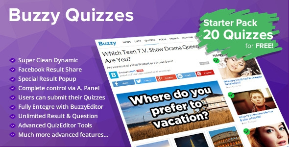 CodeCanyon Quizzes v1.0 - Plugin for Buzzy