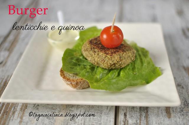 burger lenticchie e quinoa