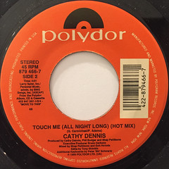 CATHY DENNIS:TOUCH ME(ALL NIGHT LONG)(LABEL SIDE-B)
