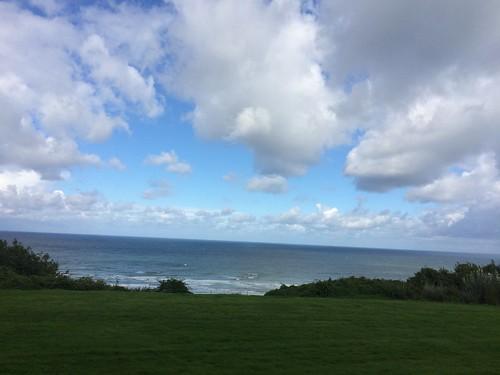 Colleville-sur-mer, ocean, clouds