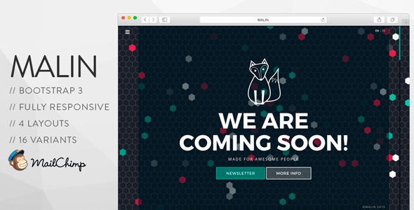 Themeforest MALIN - Perfect Coming Soon Template