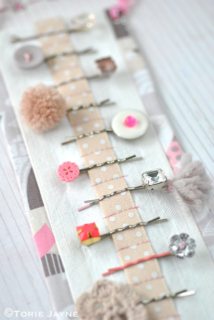 DIY bobby pin holder 2
