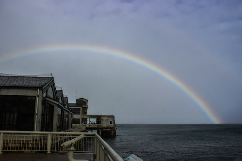 rainbow over the aquarium
