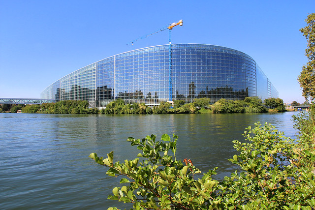 Building of the European Parliament, Strasbourg, France