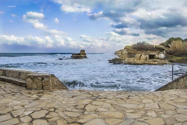 Mare in tempesta a Sant'Andrea