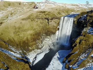 Skogafoss (Iceland)  #skogafoss #iceland #vik #waterfall #drone #mavic #aerialview