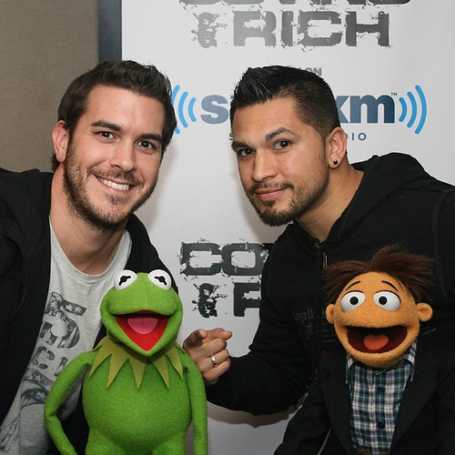 "C&R have the real scoop. We definitely sensed a ""rainbow connection"" when @kermitthefrog & Walter stopped by #TheShow #justsayin"