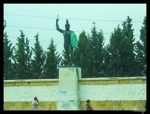 Grecia Kalambaka Meteora Termópilas Atenas - Estatua del rey Leónidas