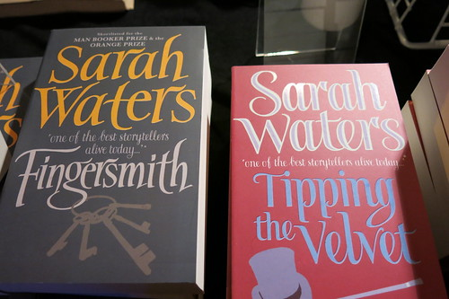 Sarah Waters' books - UBS bookstand