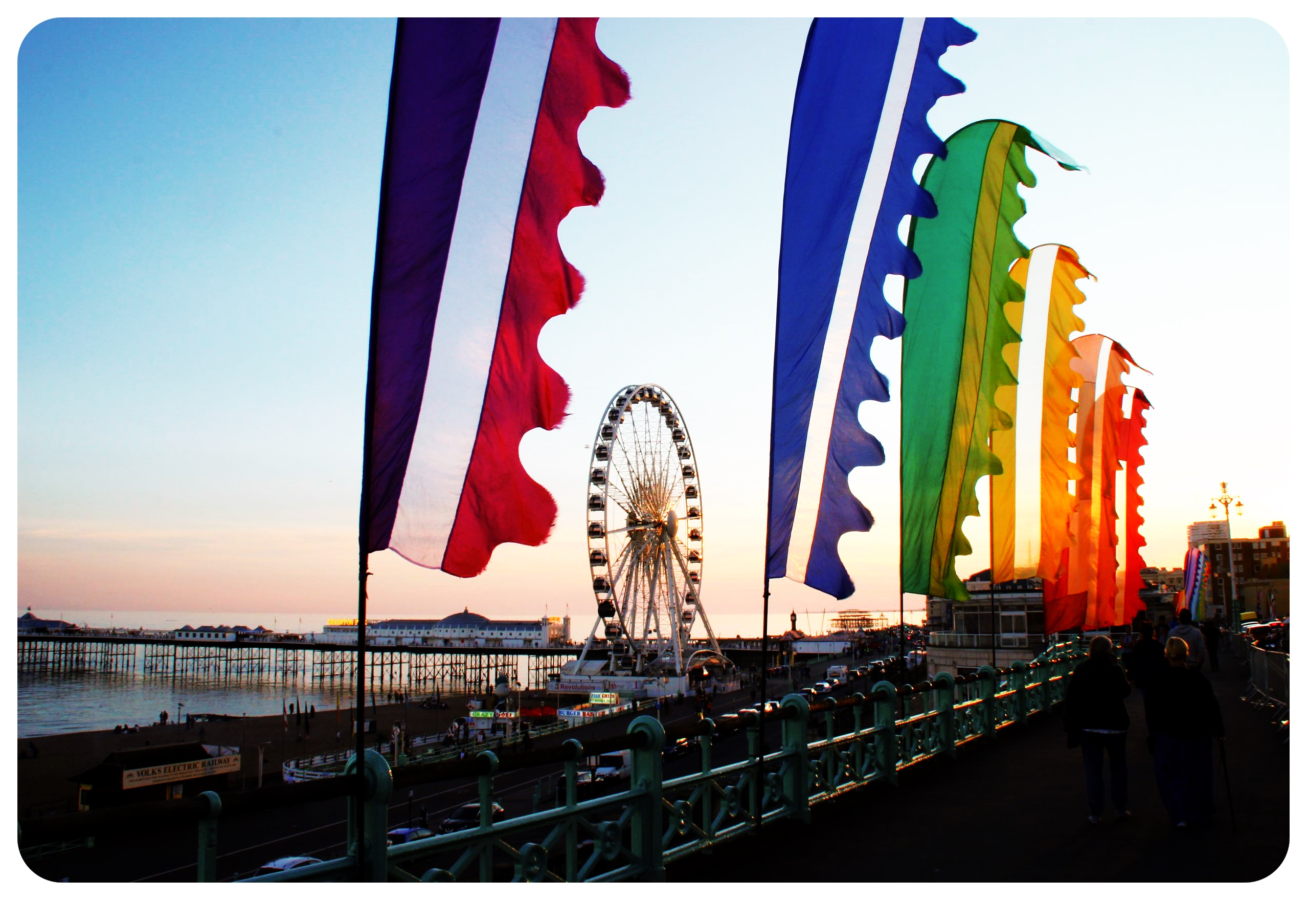 brighton rainbow flags