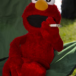 Sometimes Elmo takes a little trip to (cough, cough!!) FLAVOR COUNTRY!