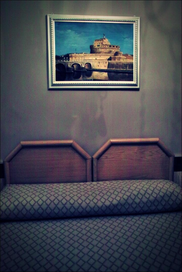 침대-'로마 바티칸 산 발렌티노 호텔'