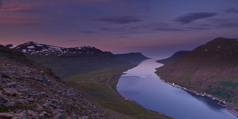 Sunset outlook - Seyðisfjörður