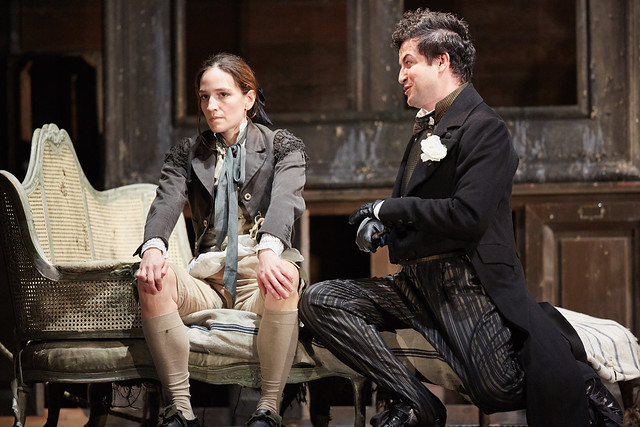 Kate Lindsey as Cherubino and Krystian Adam as Don Basilio in Le nozze di Figaro, The Royal Opera © 2015 ROH. Photograph by Mark Douet