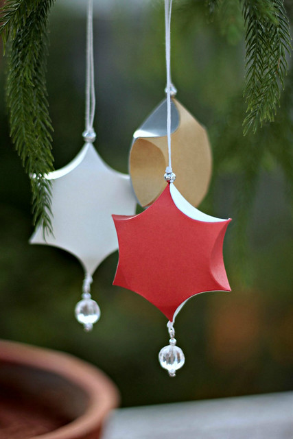 Sculpted Paper Ornaments