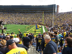 Michigan Marching Band, Michigan Stadium, University of Michigan, Ann Arbor, Michigan
