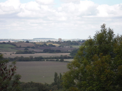 Pulloxhill Water Tower from Sharpenhoe Hillfort Site