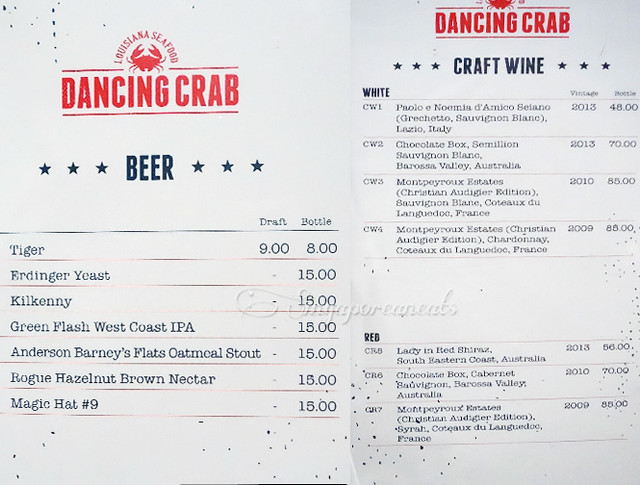 09 Dancing Crab - Menu 02