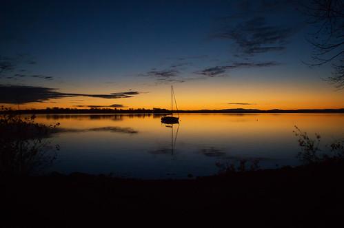 sailboat sunrise twilight lakechamplain rousespoint