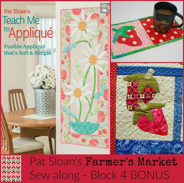 Pat sloan Farmer's market sew along block 4 button