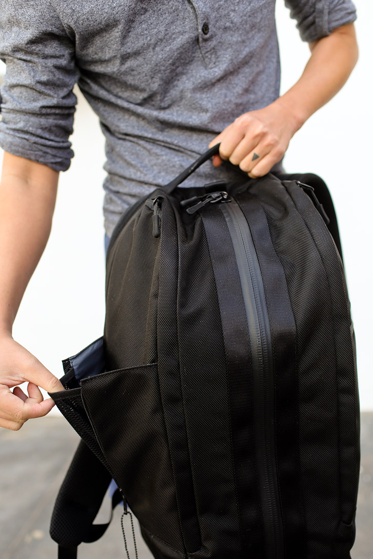 External Side Pockets / The Aer Duffel Pack Review - it's the perfect bag for the office and the gym, but find out how it fared for travel.