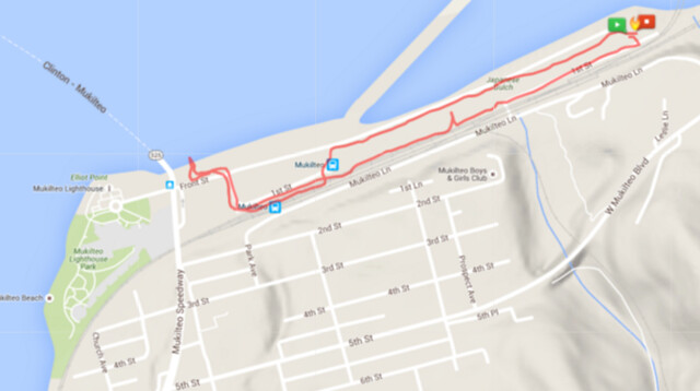 """Today""""s awesome walk, 1.6 miles in 31 minutes, 3,473 steps"""