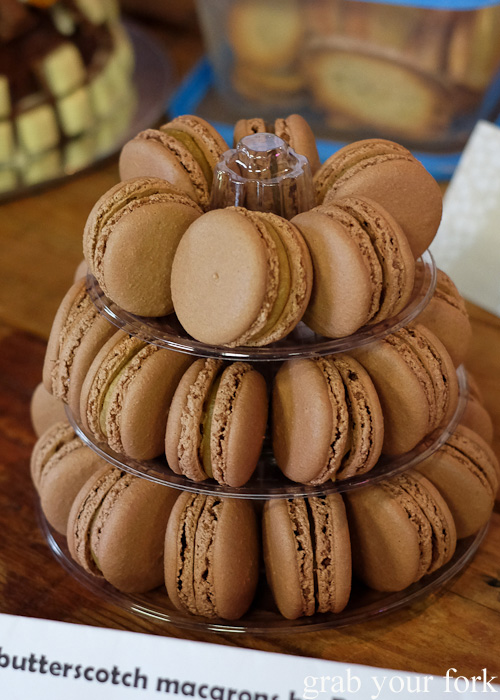 Miso butterscotch macarons at the Sydney Food Bloggers Christmas Party 2015 #sydfbxmas2015