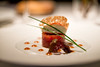 Tomato-tartare with soy sauce and pink ginger