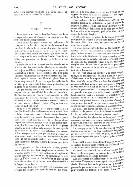 SAIGON 1893 (4) - LE TOUR DU MONDE (7-10-1893)