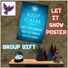 [ free bird ] Let It Snow Poster Group Gift