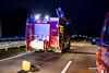 Umgestürzter Lkw auf der A3 bei Idstein-Wörsdorf 03.12.15