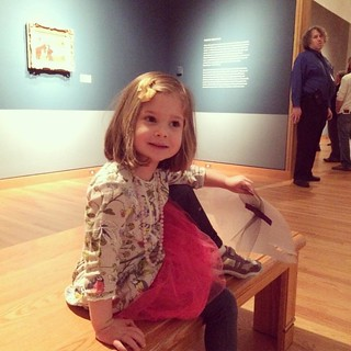 Claire checking out the impressionist exhibit at the Seattle Art Museum.