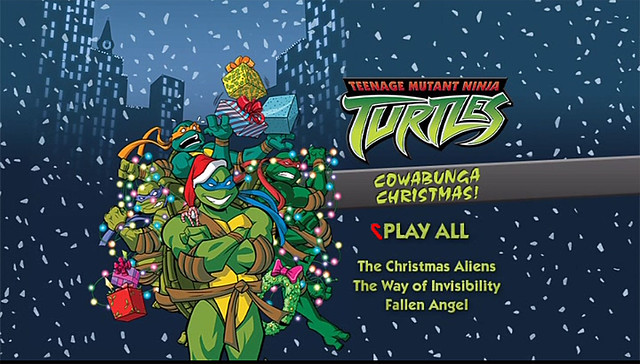 "TEENAGE MUTANT NINJA TURTLES :: COWABUNGA CHRISTMAS!"" // DVD menu screen (( 2015 ))"