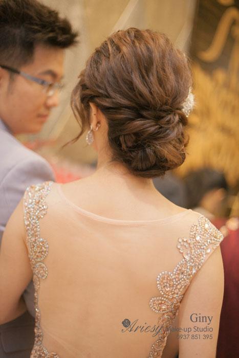 Giny,台北新娘秘書,Ariesy造型團隊,新秘推薦,線條空氣感盤髮,自然妝感,時尚造型,歐美手工飾品,雅園新潮,婚攝葉子