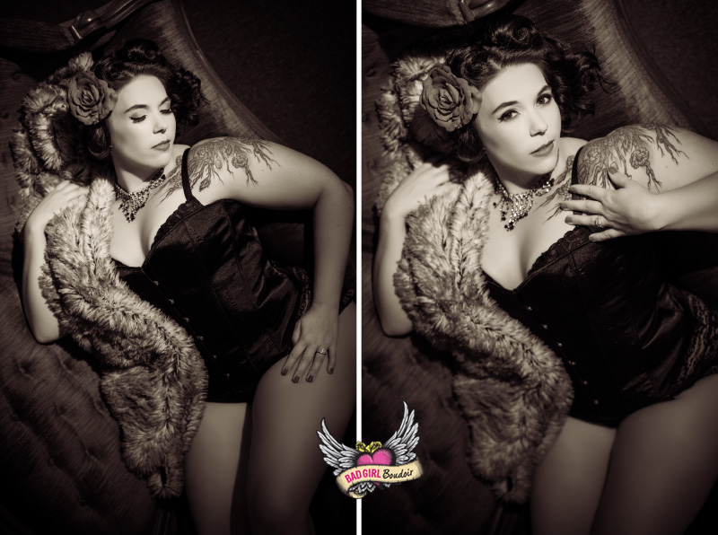 full-figured pin-up girl photography | St. Augustine, Florida Boudoir Studio